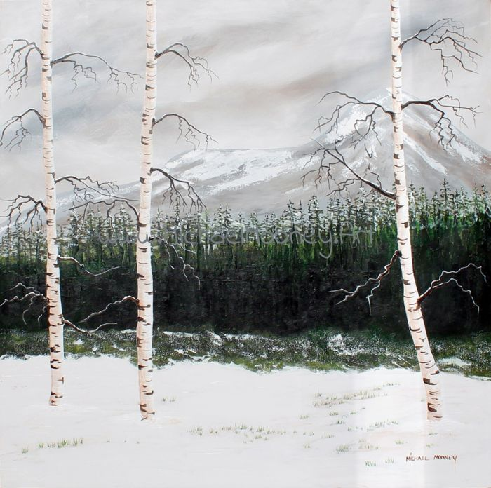 MOURNES WITH BIRCH TREES
